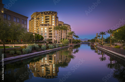 Foto op Canvas Amerikaanse Plekken Scottsdale Waterfront, Arizona,USA.