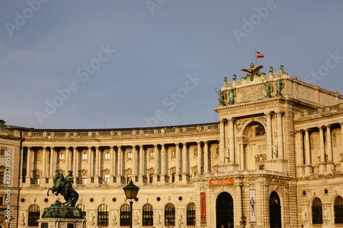 The Neue Hofburg Palace, Heldenplatz, Vienna, Austria...