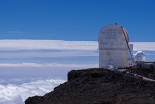 Large Telescope Dome At The To...