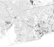 Mappa di Accra, vista satellitare, città, Ghana. Strade. Africa