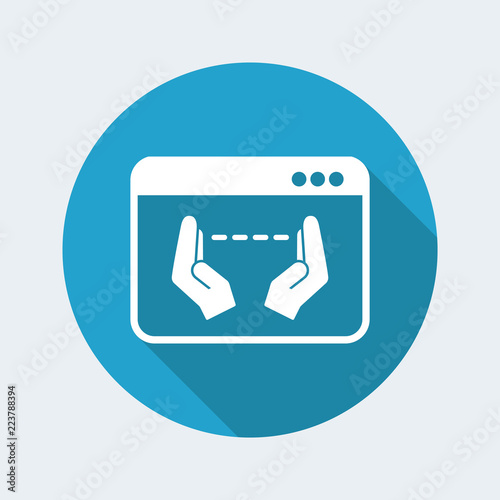 Valokuva  Hand gesturing for computer measures - Vector flat icon