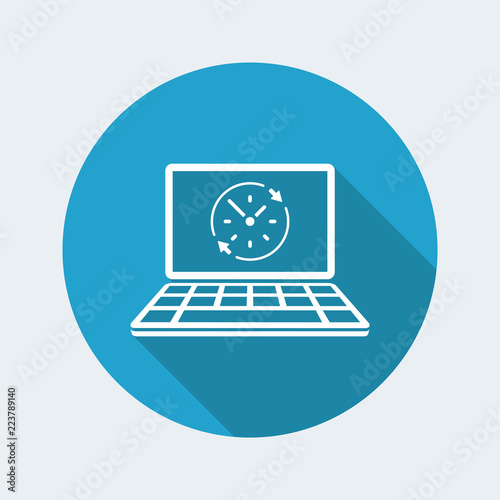 Fényképezés  Full time web service - Vector flat icon