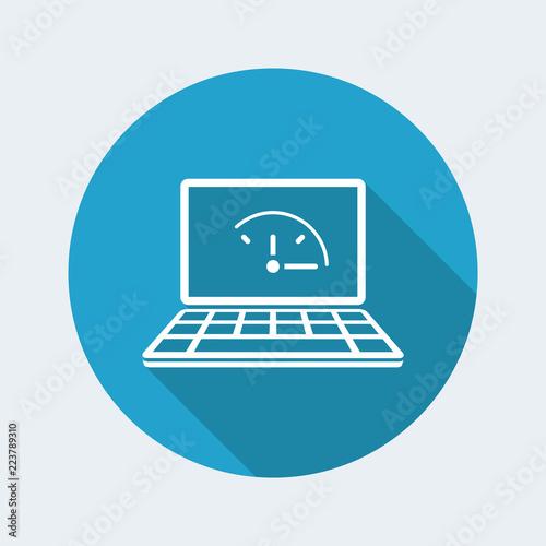 Fényképezés  Full time online services - Vector flat icon