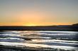 Crepúsculo y amanecer en algún lugar del desierto de Atacama en el norte de Chile