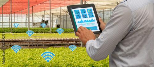 Stampa su Tela iot smart industry robot 4