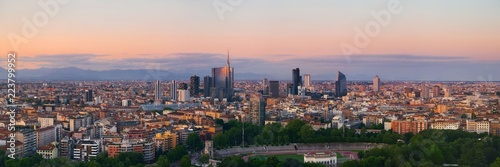 Photo Milan city skyline