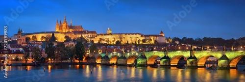 Poster Prague Prague skyline and bridge