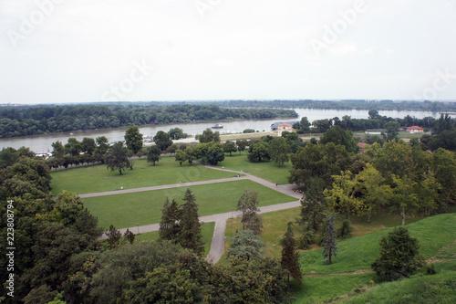 Fotobehang Wit Belgrade panorama
