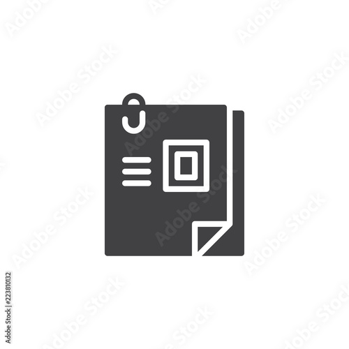 Curriculum Vitae Vector Icon Filled Flat Sign For Mobile