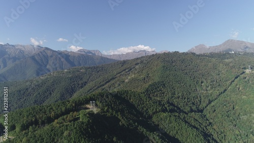 Spoed Foto op Canvas Khaki A stunning mountain landscape, aerial view