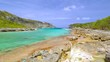 Bay colorful in north Guadeloupe