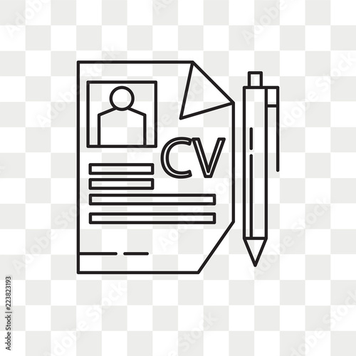 Curriculum Vitae Vector Icon Isolated On Transparent Background
