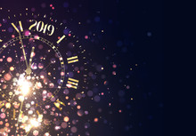 2019 New Years Background Vint...