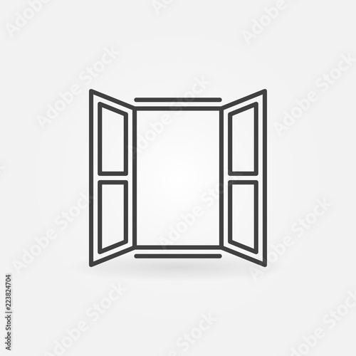 Opened window icon. Vector symbol in linear style Fototapete
