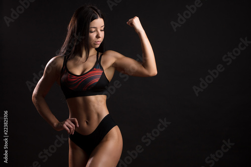 Black women muscle sexy Athletic