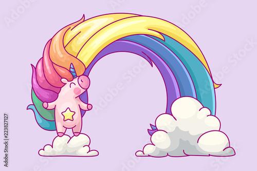vector volume rainbow unicorn
