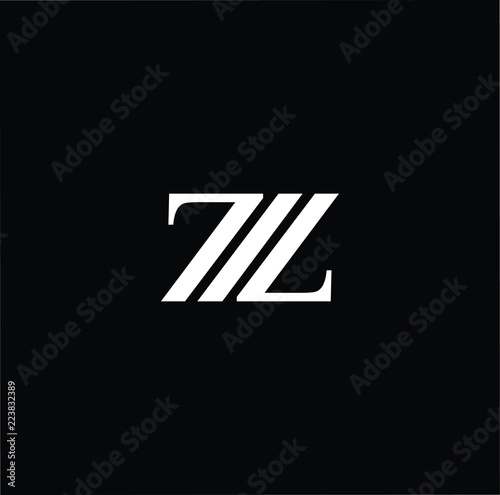 Initial White Letter Z Zz Zzz Logo Design With Black Background