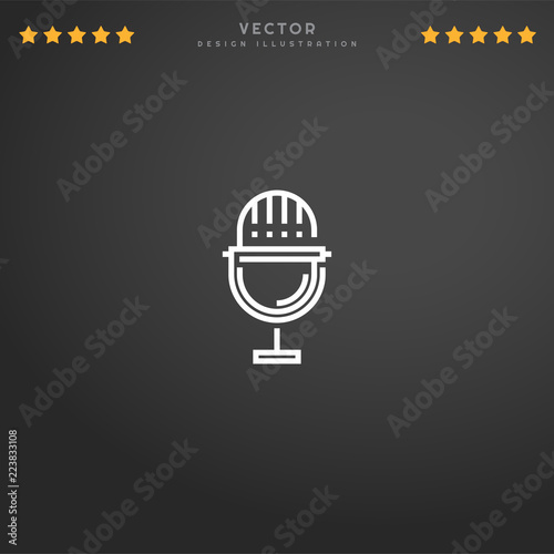 Premium Symbol of Voice Recording Related Vector Line Icon
