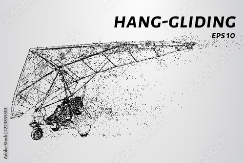 Fotografía  Hang-gliding of the particles.
