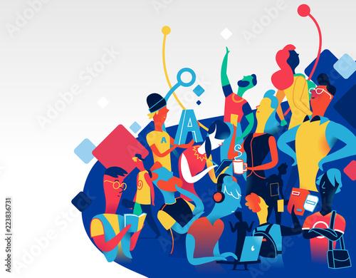 Obraz na plátně Community of talented people