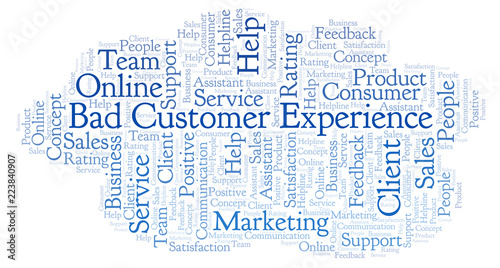 Bad Customer Experience Word Cloud Buy This Stock Illustration