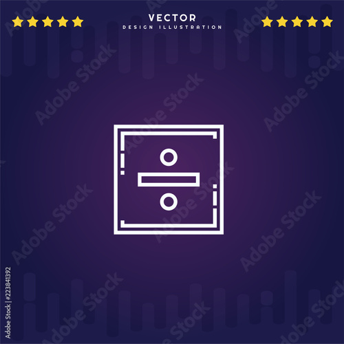 Photo  Outline Division icon isolated on gradient background, for website design, mobile application, logo, ui