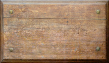 An Empty Wooden Sign