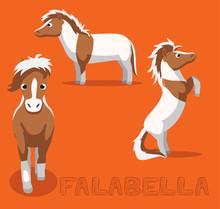 Horse Falabella Cartoon Vector...