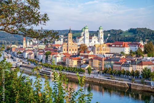 Photo sur Toile Europe Centrale Dreiflüssestadt Passau