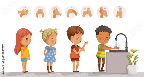 Hands Washing Step in 2020 | Hand washing poster, Hand washing, Clip art