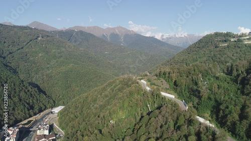 Spoed Foto op Canvas Khaki A stunning mountain landscape