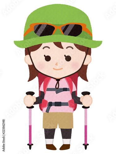 In de dag Alpinisme 登山ガイド 女性