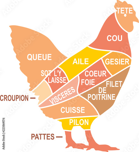 Vászonkép MORCEAUX DE POULET