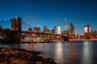 Brooklyn Bridge from Brooklyn at night