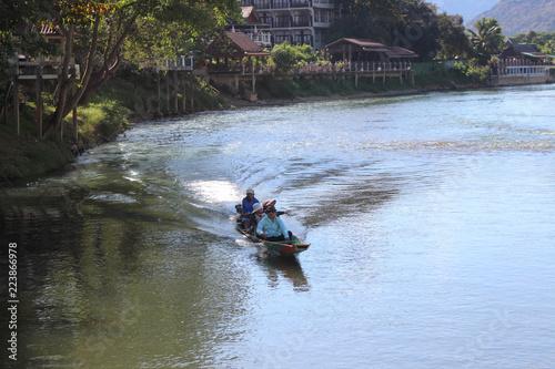 vang, vieng, landscape, tourism, river, destination, song