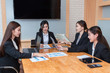 Group Of Businesswoman Working Together In The Office