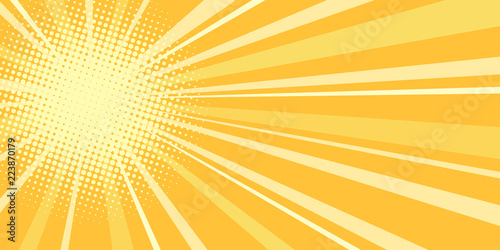 Obraz yellow sun pop art background - fototapety do salonu