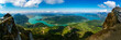 Panorama Mondsee und Attersee