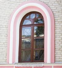 Brown Door In The Church