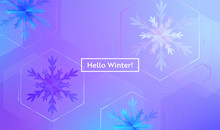Hello Winter Layout With Snowf...
