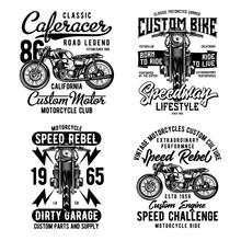 Vintage Labels Set With Letter...