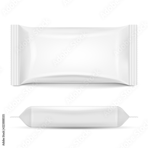 Fotografía Flow pack isolated on white background. Vector illustration.