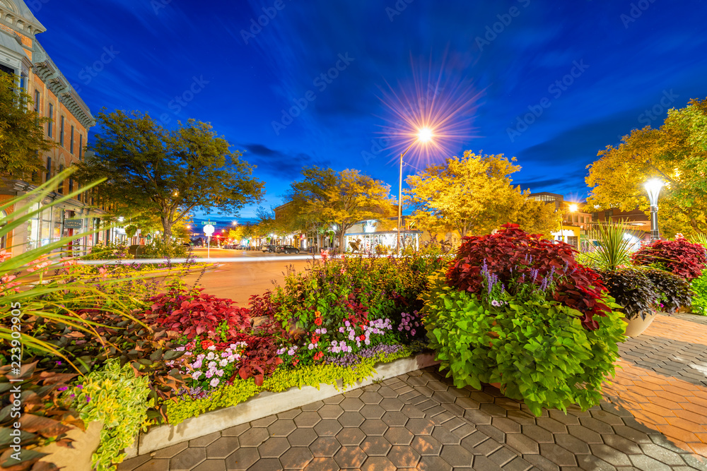Fototapety, obrazy: Old Town Fort Collins at Blue Hour
