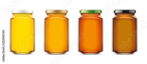 Fotografia Clear Honey Jar mockup. Big size