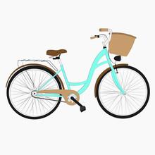 Hand Drawn Sketch Illustration Of Bicycle. Vintage Bike