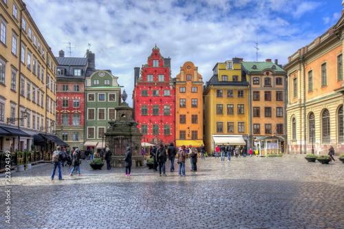 Foto auf Acrylglas Stockholm Stortorget square in Stockholm center, Sweden