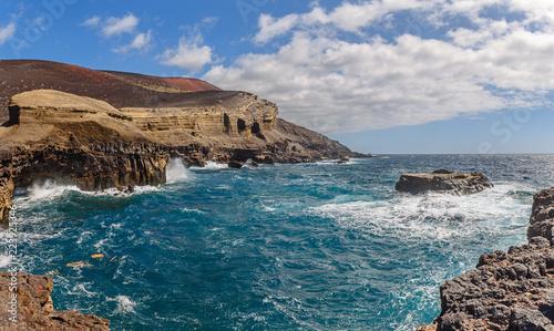 Poster Canarische Eilanden Volcanic seascape in La Palma, Canary Islands