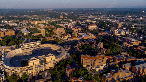 Staande foto Stadion University of Tennessee and Football stadium in the light of morning summer time