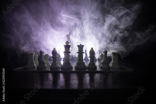 Fotografía Chess board game concept of business ideas and competition or strategy ideas concept