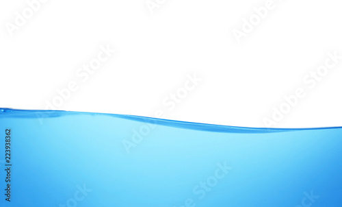 Surface of blue water against white background Canvas Print